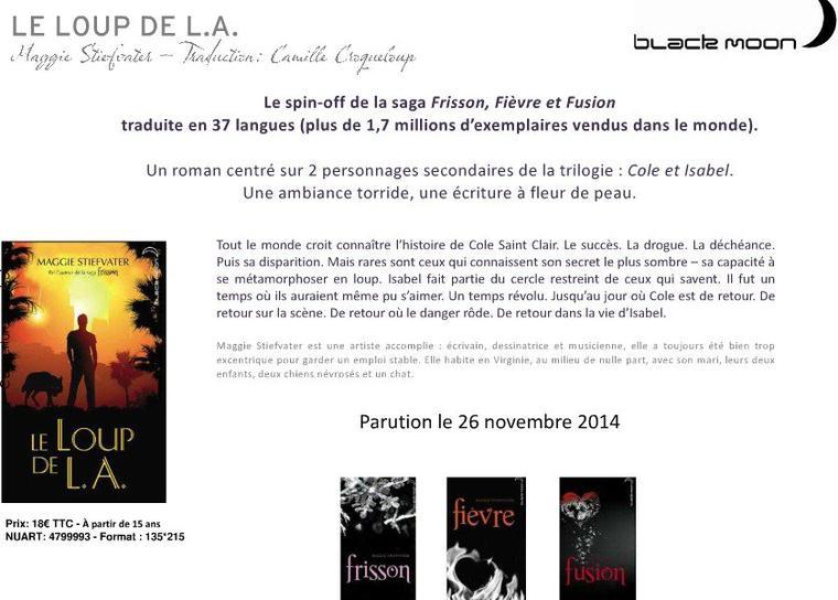 BLACK MOON : LES SORTIES OCTOBRE, NOVEMBRE, DÉCEMBRE 2014