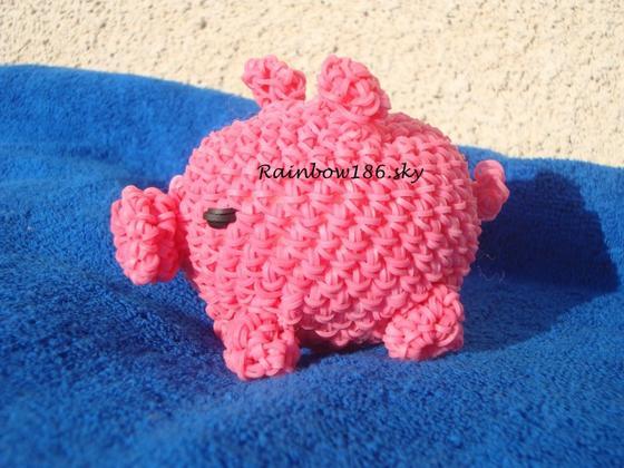 Cochon loomigurumi