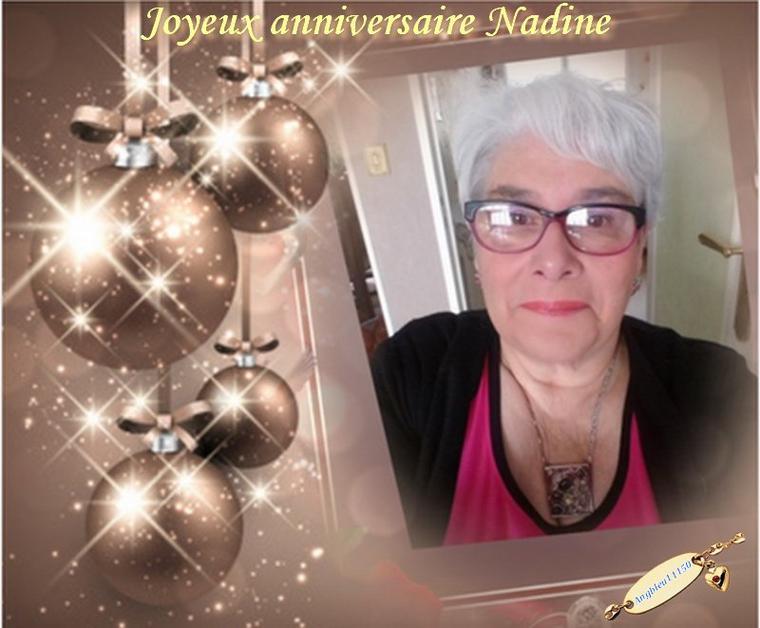 Joyeux anniversaire Nadine