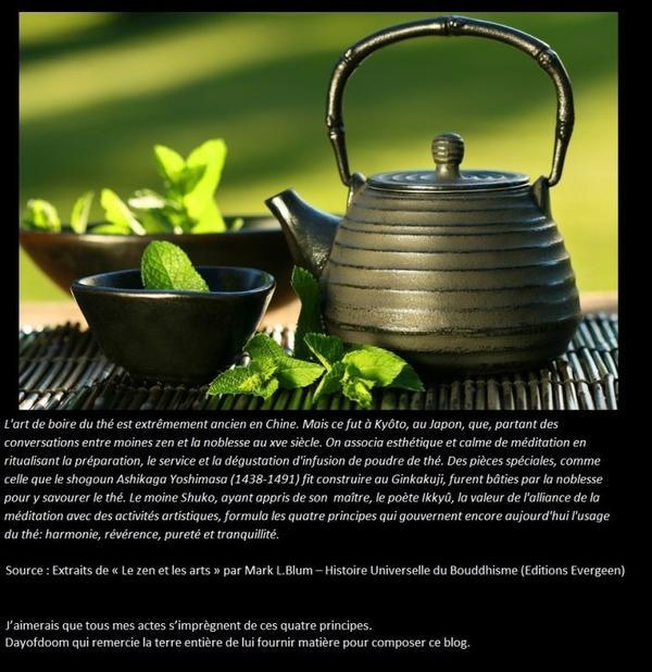 Cérémonie de thé Japonais