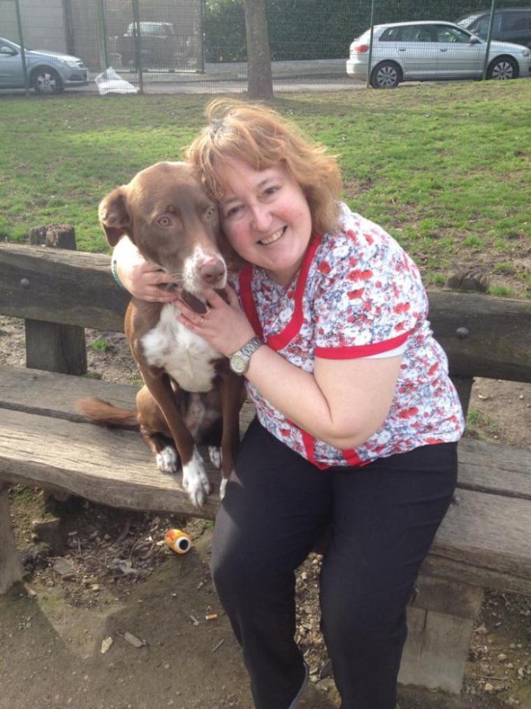 Au parc avec Rikki le chien du copain de ma fille le dimanche 23 février 2014