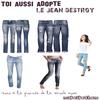 Article : Toi aussi adopte le jean destroy  Par : Elena