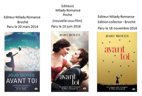 2 . Avant toi (Tome 1) de Jojo MOYES - Livre audio lu par Émilie Ramet - Durée : 12 h 31 min - Éditeur : Hardigan