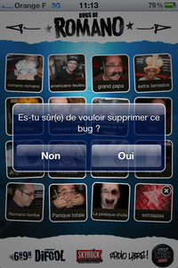 Comment enregistrer un bug perso sur l'appli Bugs de Romano ?