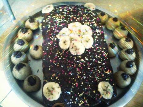 Moelleux aux chocolats - Bananes & Cake ball aux morceaux de Bananes