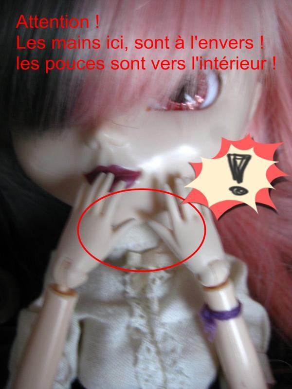 éviter de mettre les mains à l'envers sur une pullip (ou doll du même genre ^^)