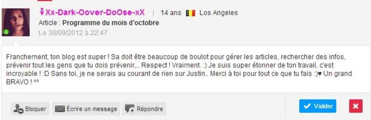 Projet pour Justin