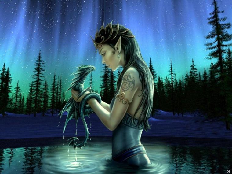 Elfe avec un dragon fantastique blog d 39 une romanci re for Jardin fantastique