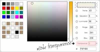 Astuce n°1: Mettre en transparent.