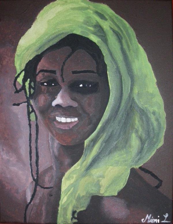 portrait femme du monde couleur