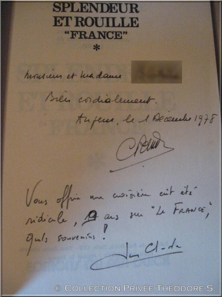 """SPLENDEUR ET ROUILLE """" FRANCE """"   par le Commandant Christian Pettre   -1978"""