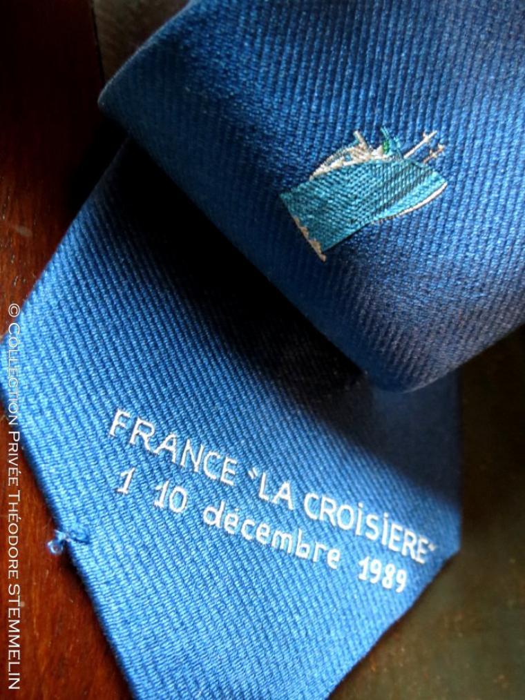 """Cravate paquebot NORWAY - """" FRANCE - LA CROISIERE"""""""