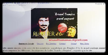 Arnaud Tsamere est le grand gagnant du Ruquier d'Or!!!!