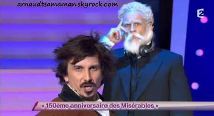 Arnaud Tsamere en guest dans le sketch de Florent Peyre (150ème anniversaire des Misérables)