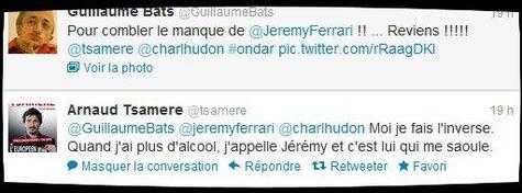 C'est la guerre entre Jérémy Ferrari et Arnaud Tsamere