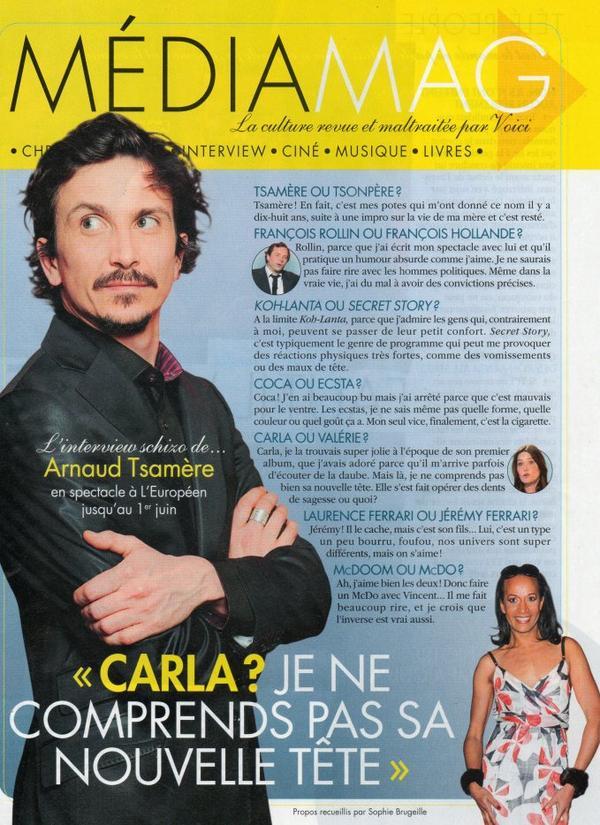"""Arnaud Tsamere dans le magazine """"Voici"""""""