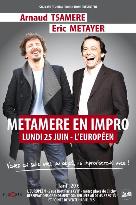 Arnaud Tsamere avec Eric Metayer en impro!