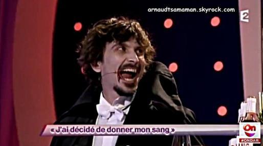 Arnaud Tsamere en guest dans le sketch d'Artus (J'ai décidé de donner mon sang)