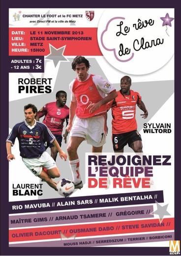 """Arnaud Tsamere joue au foot pour l'association """"Le rêve de Clara"""""""