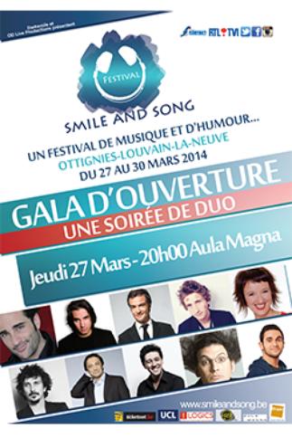 """Arnaud Tsamere au gala du """"Smile et Song Festival"""""""
