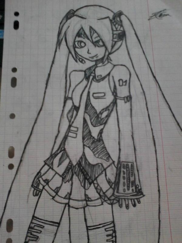 Miku Hatsune dessiner par moi