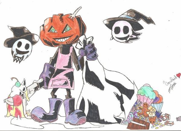 Pumpkins Heads Spooky Dance