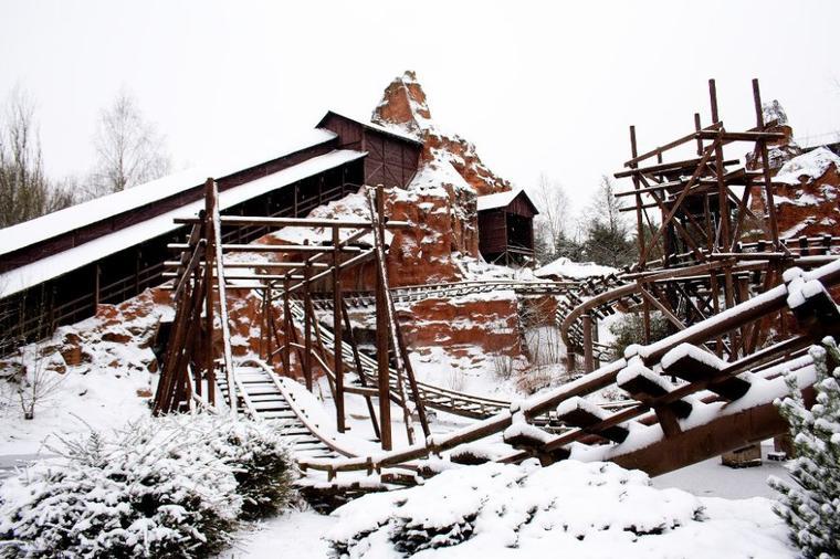 Vive la neige a Walibi Belgium !!!