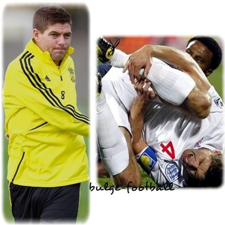 Steven Gerrard Big bulge