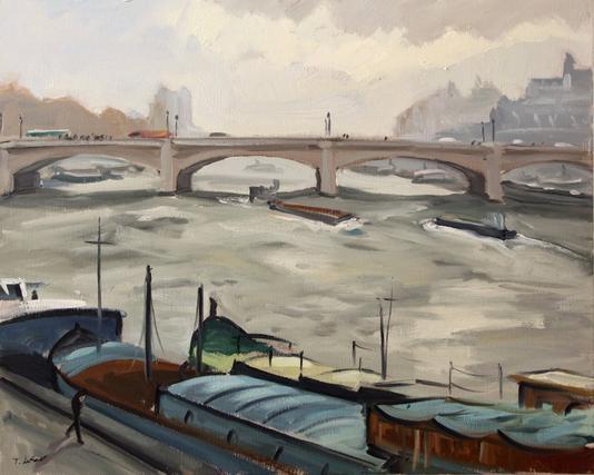 Le pont de la Concorde  81 x 65 cm