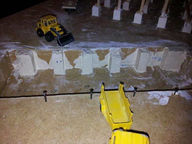 Début de construction de la première fosse