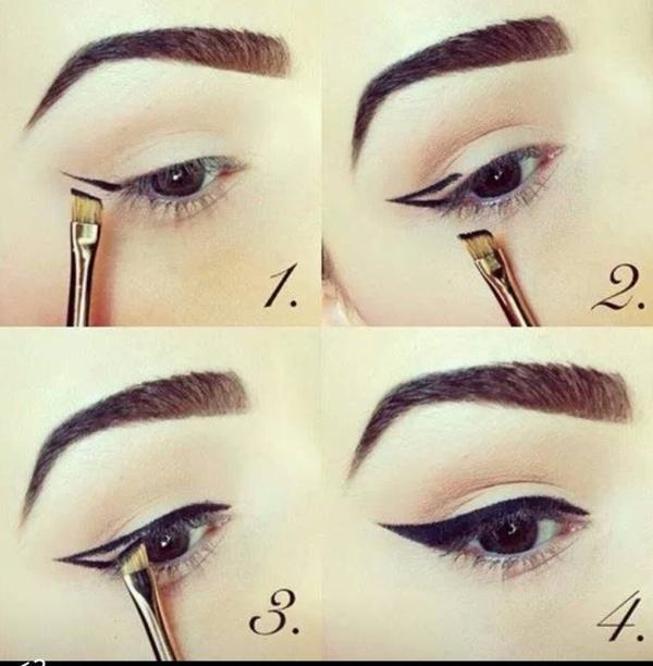 Tuto make up #1: trait d'eye-liner.!