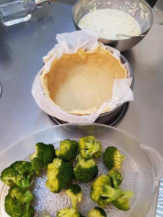 Quiche au fromage et brocolis