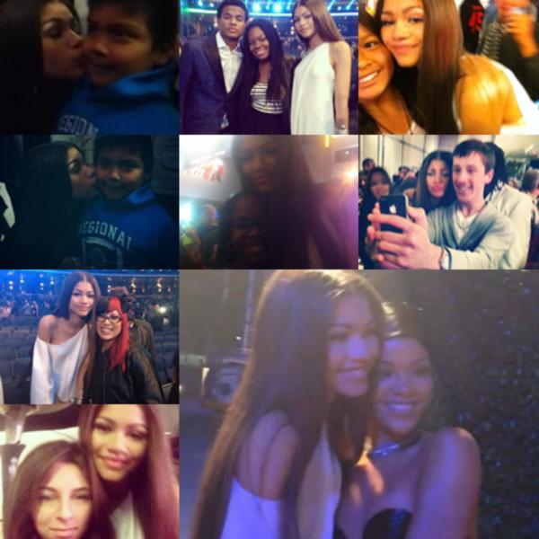LE 22/11 - Zendaya était présente au AMA's Radio Room à Los Angeles !!