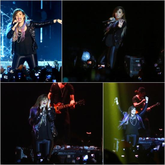 LE 25/04 - Demi a fait un concert à São Paulo au Brésil !!