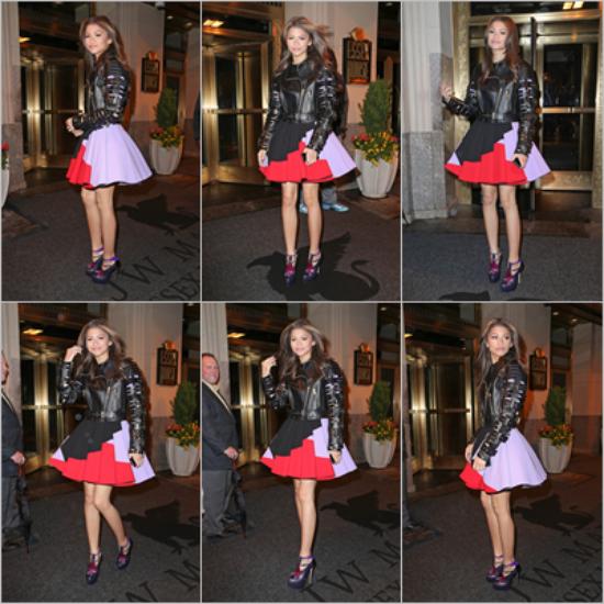 LE 30/04 - Zendaya a été vu se rendant dans un restaurant à New York !!