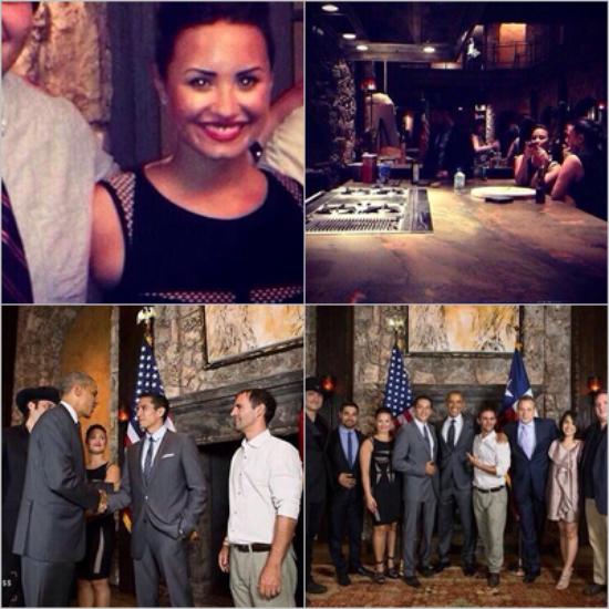 LE 09/07 - Demi a dîner avec Barack Obama !!