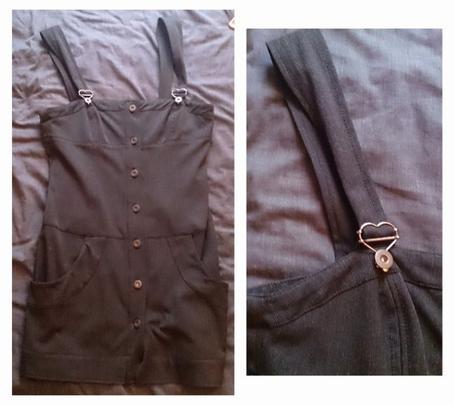 Robe grise à bretelles