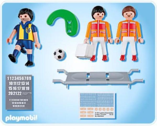 secouristes et footballeur bless playmobil ref 4727