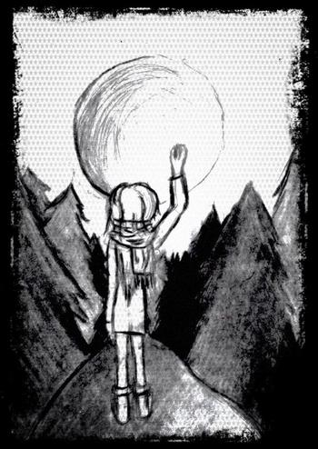 1er dessin : Au claire ce lune