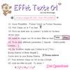 ♠ Tutoriel 01 − Effet Texte 01 ♪