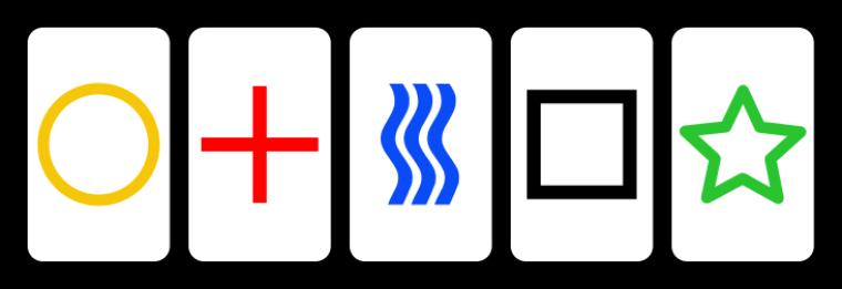 Le saviez -vous ? : Les  CARTES DE ZENER,   ou cartes  ESP (extrasensoriel perception) ,c'est quoi ?
