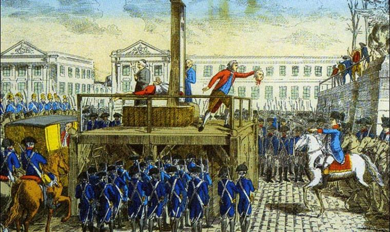 Piqûre de rappel :   Exécution de Louis XVI