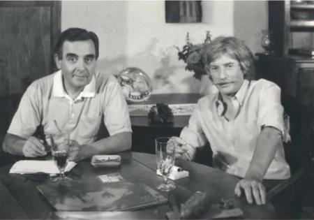 1985)   Jean FERRAT chez lui reçoit Bernard PIVOT
