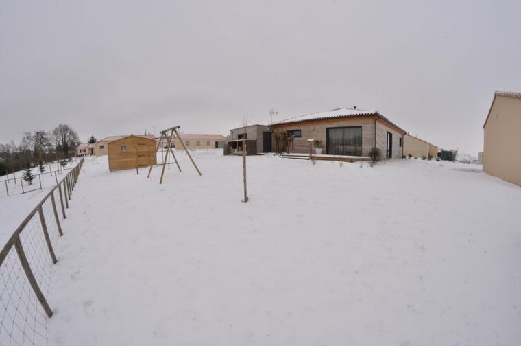 et voilà 24H après avec la neige chez nous