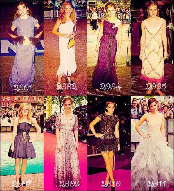 . Emma était présente à chaque avant-première Londonienne d'Harry Potter. (2001-2011)..