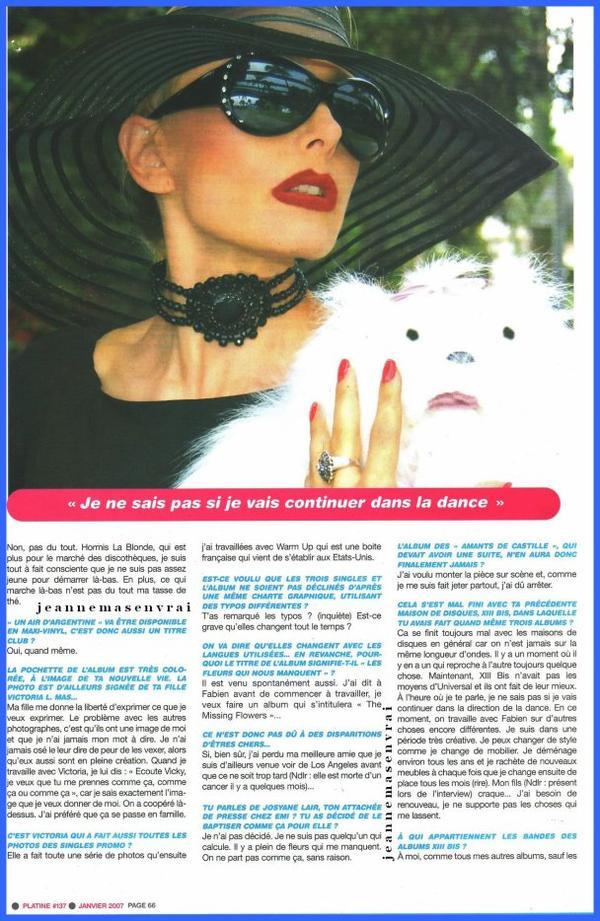 """Dossier spécial """"THE MISSING FLOWERS"""" INTERVIEW +  Sondage : 2 titres de Jeanne en compétition - Faites votre choix dans ce 3ème duel !"""