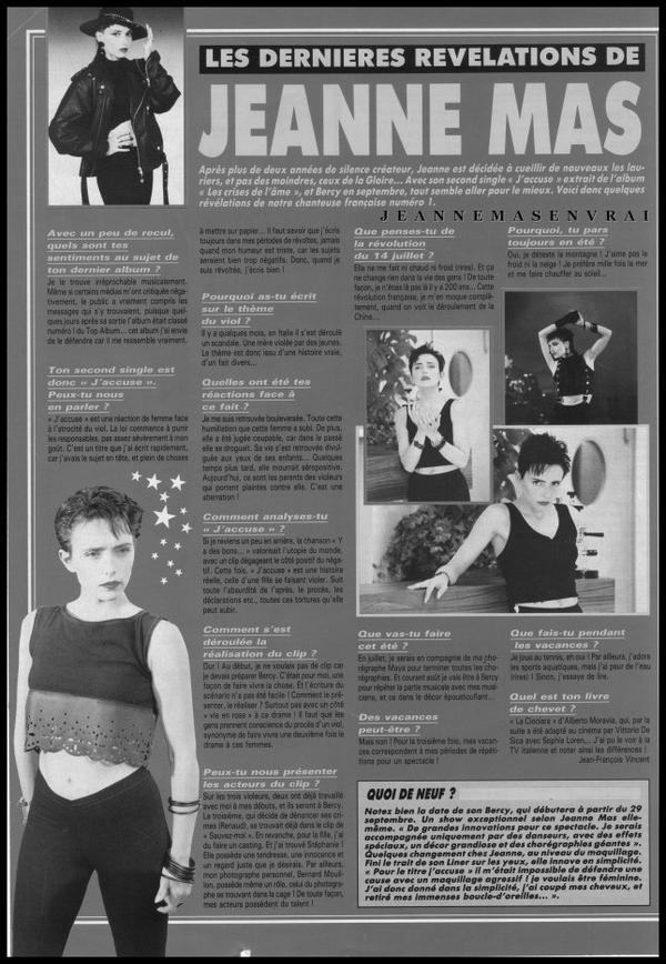 """1989 - 2019 - L'album """"LES CRISES DE L'AME"""" a 30 ans !- Episode 15 La promo... dans la presse Période """"J'accuse"""""""