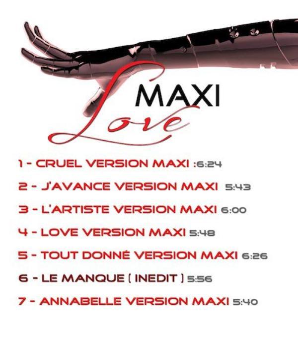 """News musique - Sortie le 23 octobre du nouvel album """"MAXI LOVE"""" avec 7 titres dont 1 inédit"""