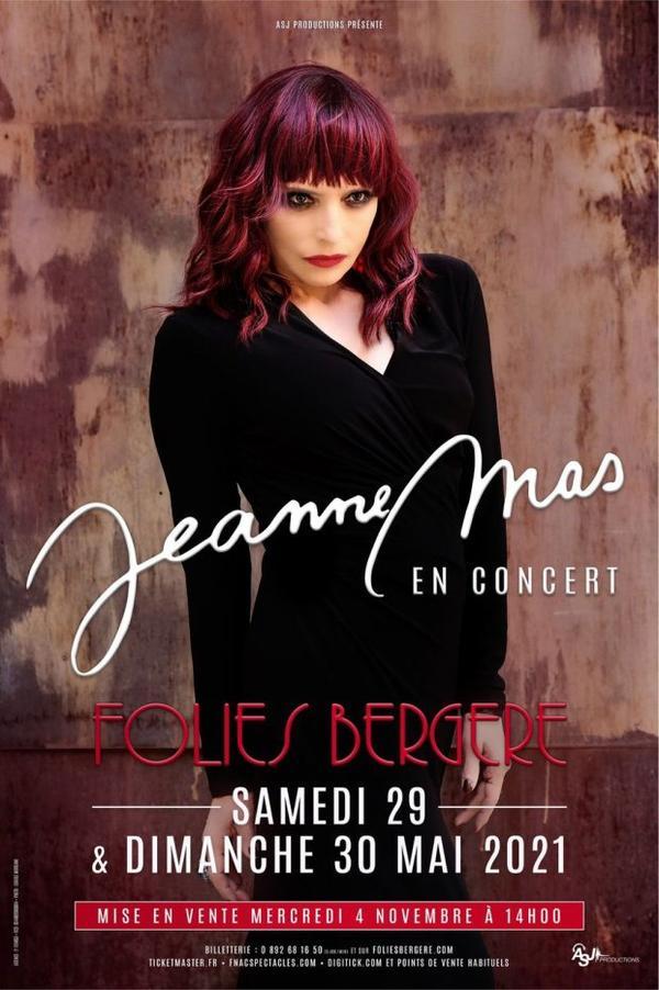 News - JEANNE MAS en concert les 29 & 30 mai 2021 aux Folies Bergère