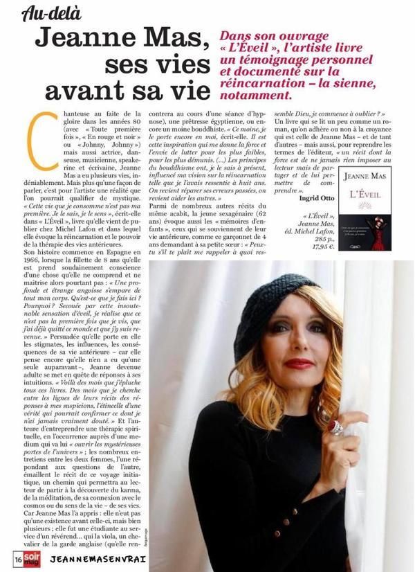 """News presse - Article sur """"L'éveil"""" dans le journal belge  """"SOIRMAG"""" du 25/11/20"""